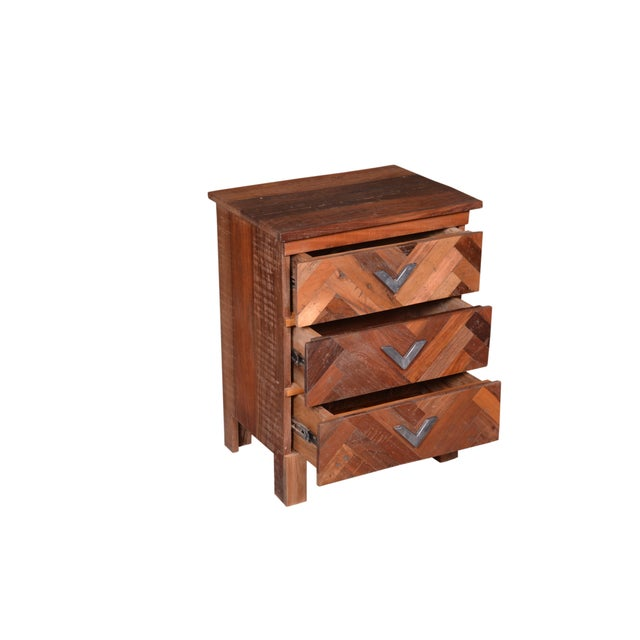 Contemporary Contemporary Emelia Wooden Bedside Table For Sale - Image 3 of 7