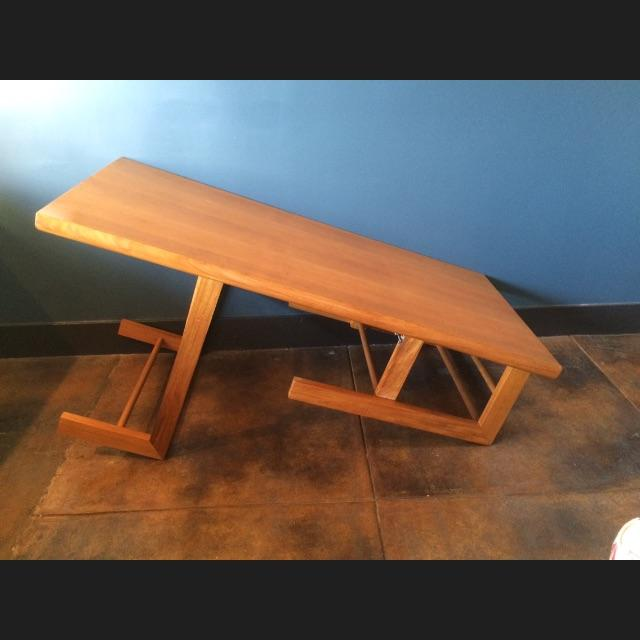 Mid-Century Camel Conversion Dining Table - Image 3 of 5
