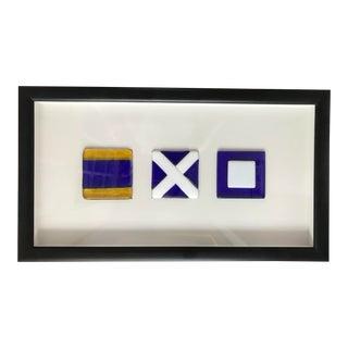 Nautical Code Flag Glass Tiles - Framed For Sale