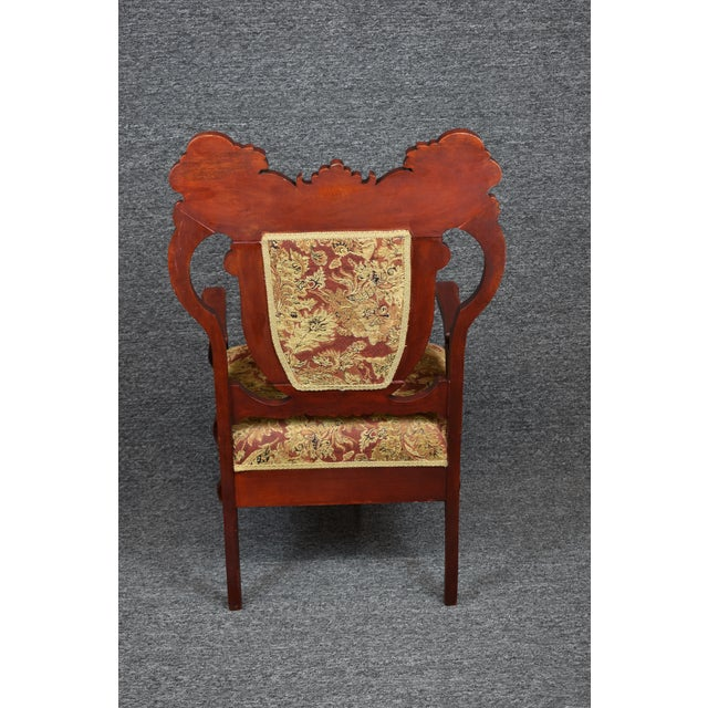 Antique Old World Carved Shield Back Armchair For Sale - Image 6 of 12