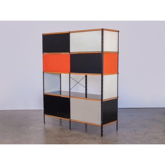Industrial Charles & Ray Eames Esu 400 C Storage Unit for Herman Miller For Sale - Image 3 of 11