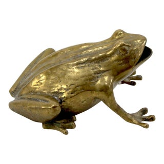 Brass Frog Ashtray