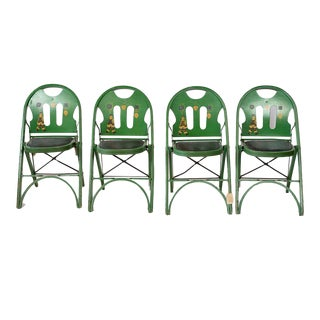 Early 20th Century Louis Rastetter and Sons Folding Chairs- Set of 4 For Sale