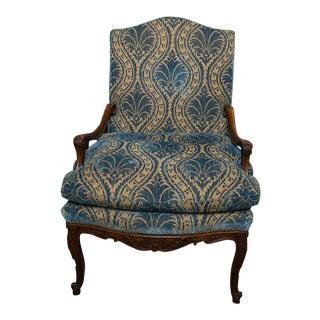 Late 19th Century Antique Italian High Back Velvet Chair For Sale