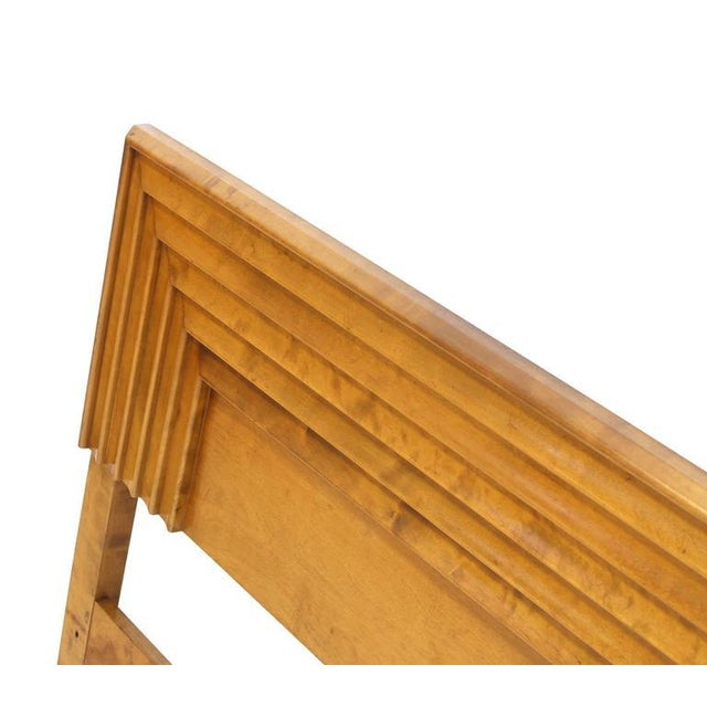 Early 20th Century Mid-Century Modern Birch Full Size Headboard Bed For Sale - Image 5 of 7