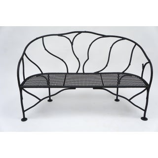 Faux Bois Wrought Iron Garden Bench Preview