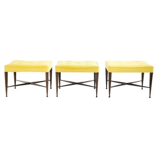 Set of Three Wormley X-Base Stools For Sale