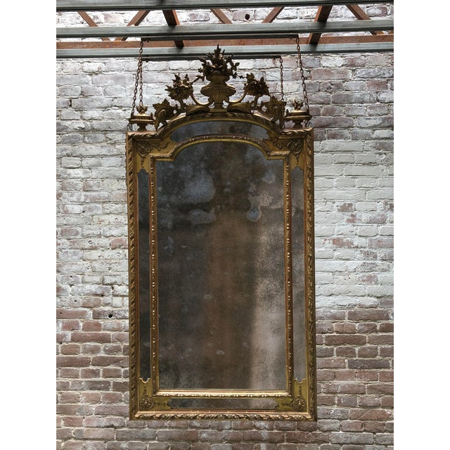 19th Century Ornate Wall Mirror,France For Sale - Image 4 of 5