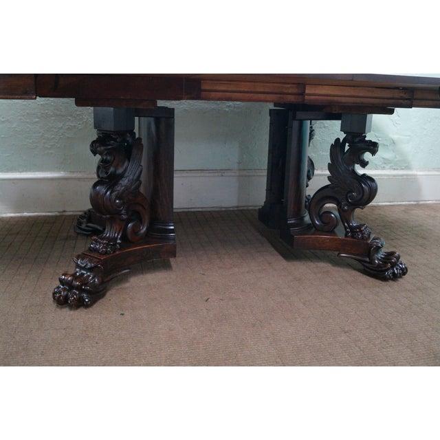 RJ Horner Antique Round Oak Griffin Dining Table - Image 10 of 10