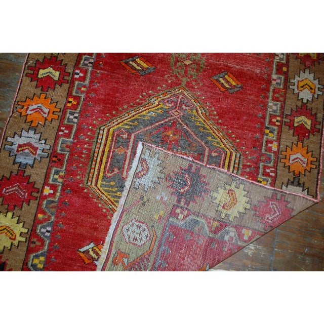 1920s Antique Turkish Anatolian Hand Made Rug - 3′1″ × 4′7″ - Image 6 of 7