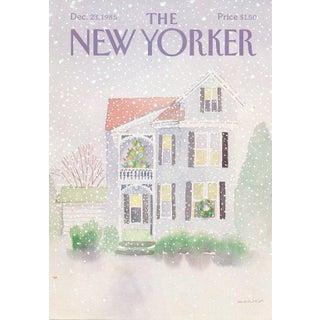 Vintage 1985 New Yorker Cover, December 23 (Susan Davis), Christmas For Sale