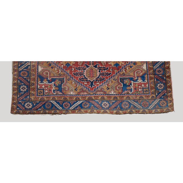Traditional Heriz Medallion Carpet For Sale - Image 3 of 5