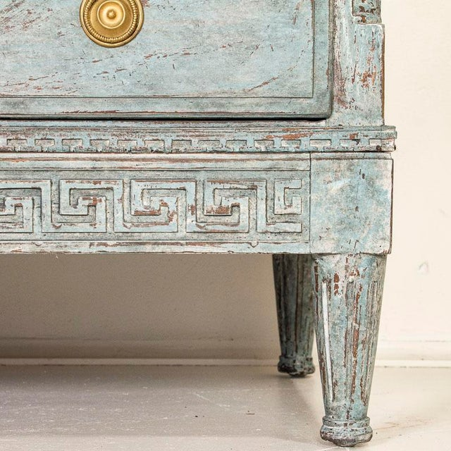Large Antique Blue Painted Chest of Drawers From Sweden For Sale - Image 10 of 13