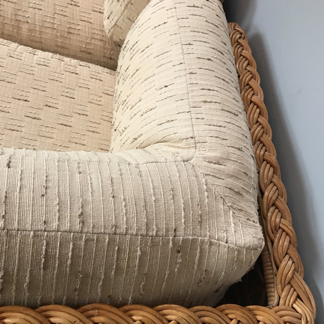 Tan Vintage Rattan Sectional Sofa Set For Sale - Image 8 of 11