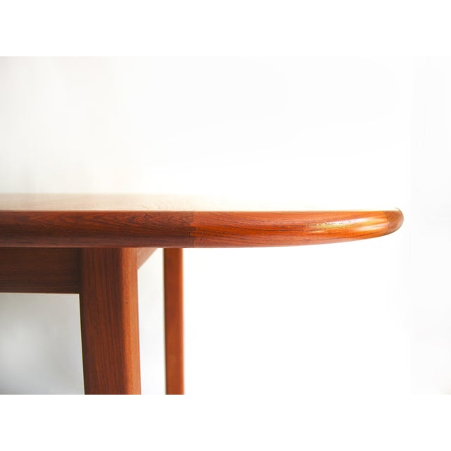 Teak Vintage Mid-Century Modern Teak Extending Dining Table by D-Scan For Sale - Image 7 of 11