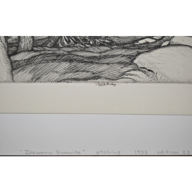"""Ice Worn Granite"" Vintage Etching by Roi Partridge For Sale - Image 4 of 6"