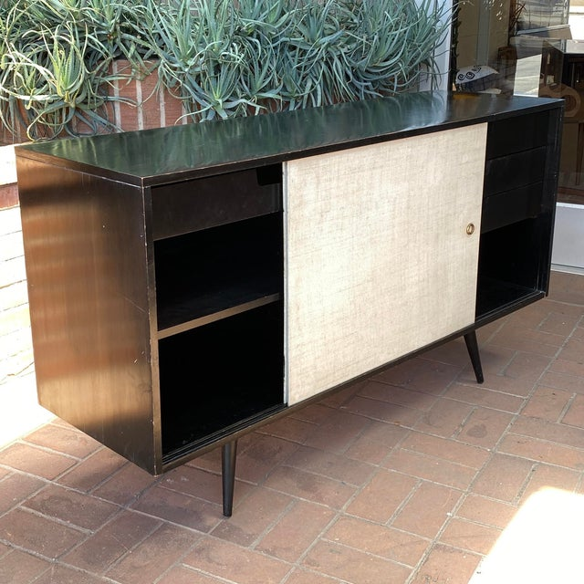 1950s Paul McCobb Planner Group Credenza With Original Ebonized Wood Finish, 1950s For Sale - Image 5 of 12