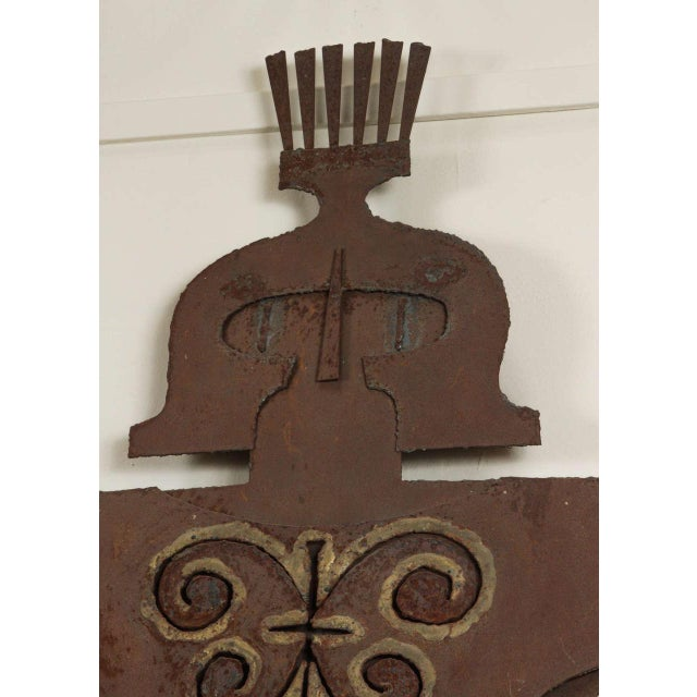 Rustic Metal Gladiator Wall Sculpture For Sale - Image 3 of 6