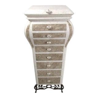 Jewelry Dresser in Tessellated Stone