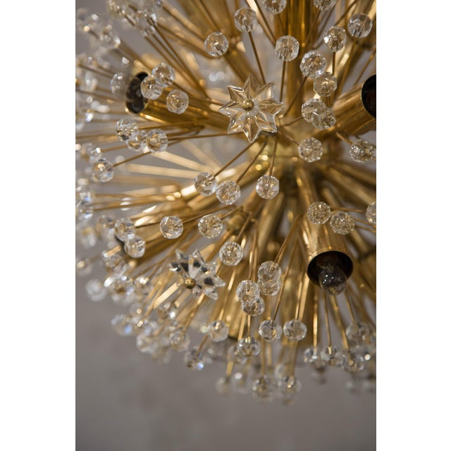 "Art Deco ""Snowflake"" Crystal Chandelier by Emil Stejnar For Sale - Image 3 of 11"