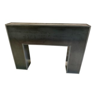 Industrial Style Steel Mantel For Sale