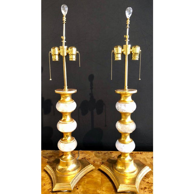 Art Deco Rock Crystal Table Lamps - a Pair For Sale In New York - Image 6 of 13