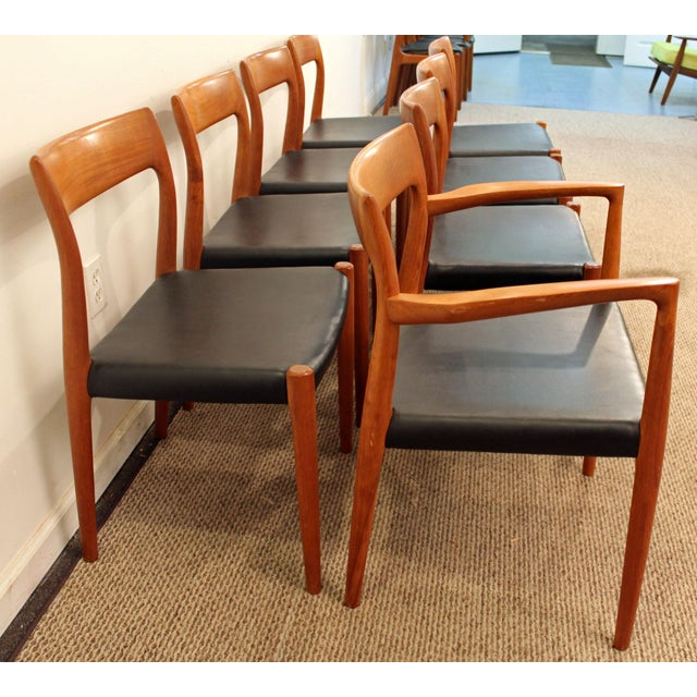 Teak Danish Modern Niels Moller #77 Teak Dining Chairs - Set of 8 For Sale - Image 7 of 11