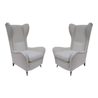 Cesare Lacca Pair of Armchairs, Italy 1950