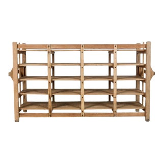 Rustic Belgian Wooden Crate For Sale