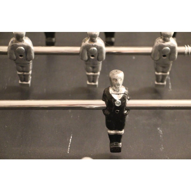 1970s Lucite and Mirror Polished Aluminum Foosball Table For Sale - Image 6 of 12