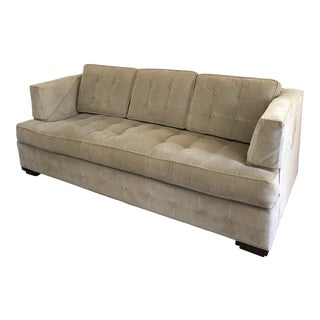 Ethan Allen Beige Tufted Sofa