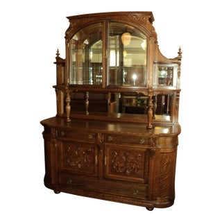 20th Century Traditional Quarter Sawn Oak Buffet For Sale
