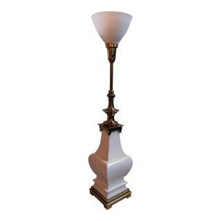 Stiffel Crackle Glaze Urn Lamp For Sale