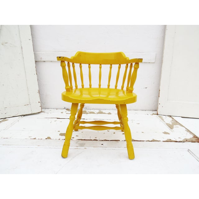 Yellow Captain's Chair - Image 2 of 4