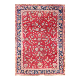 Early 20th Century Antique Indian Amritsar Rug - 8′10″ × 12′2″ For Sale