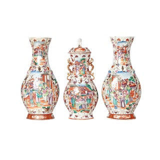 Chinese Export / Three-Piece Chinese Garniture Set