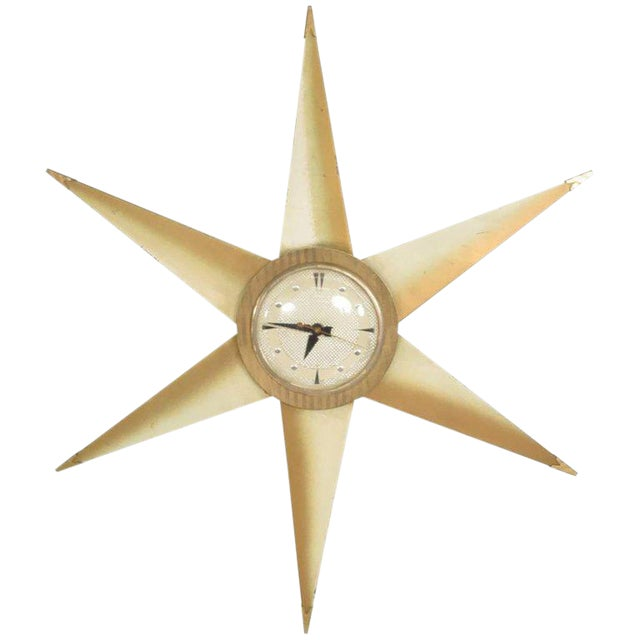 Mid-Century Modern Star Electric Clock Bilt Rite Mfg Co For Sale