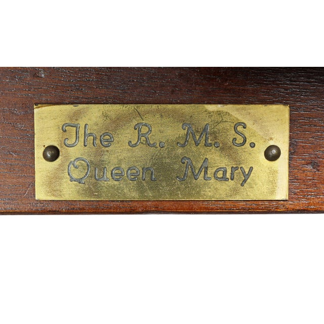 Edwardian Mahogany Bed Ladder from the R.M.S Queen Mary For Sale - Image 4 of 6