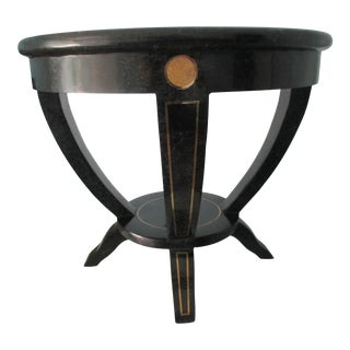 Brass and Tessellated Stone Side Table For Sale
