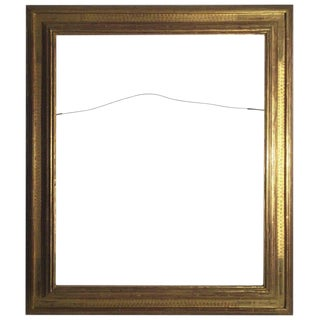 Frederick Harer Gilt Wood, Hand Carved Frame For Sale