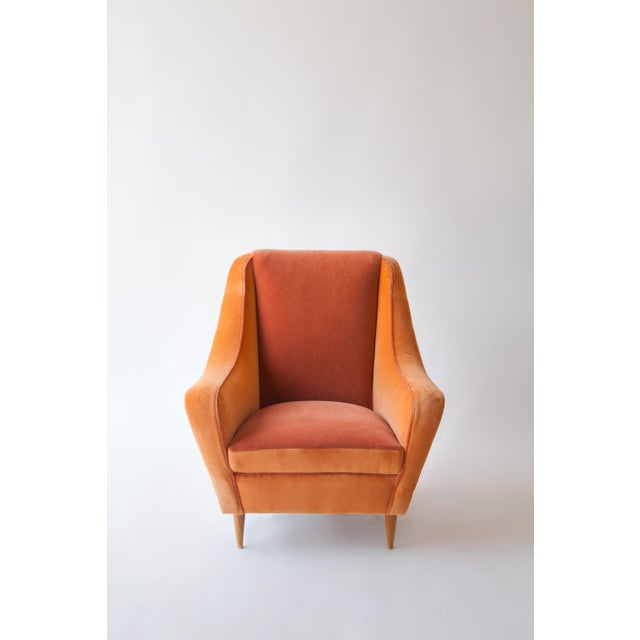 Mid-Century Modern Italian Armchairs Attributed to Carlo DI Carli For Sale - Image 3 of 8