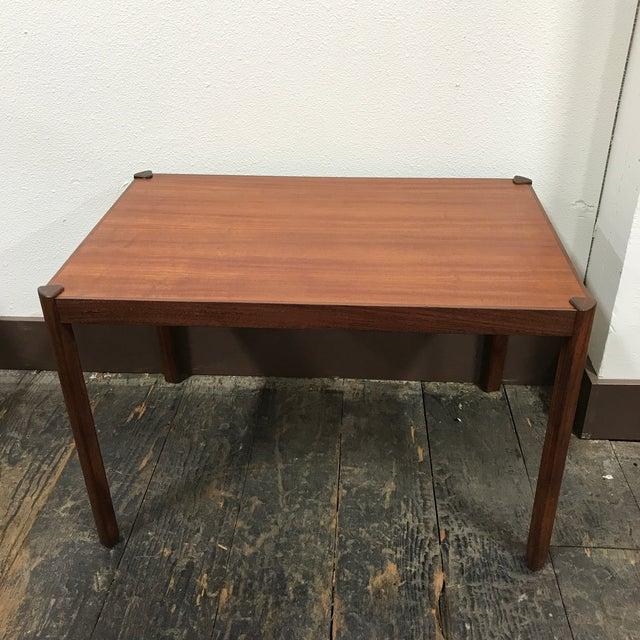Danish Modern Hans Olsen Danish Modern Teak Side Table For Sale - Image 3 of 10