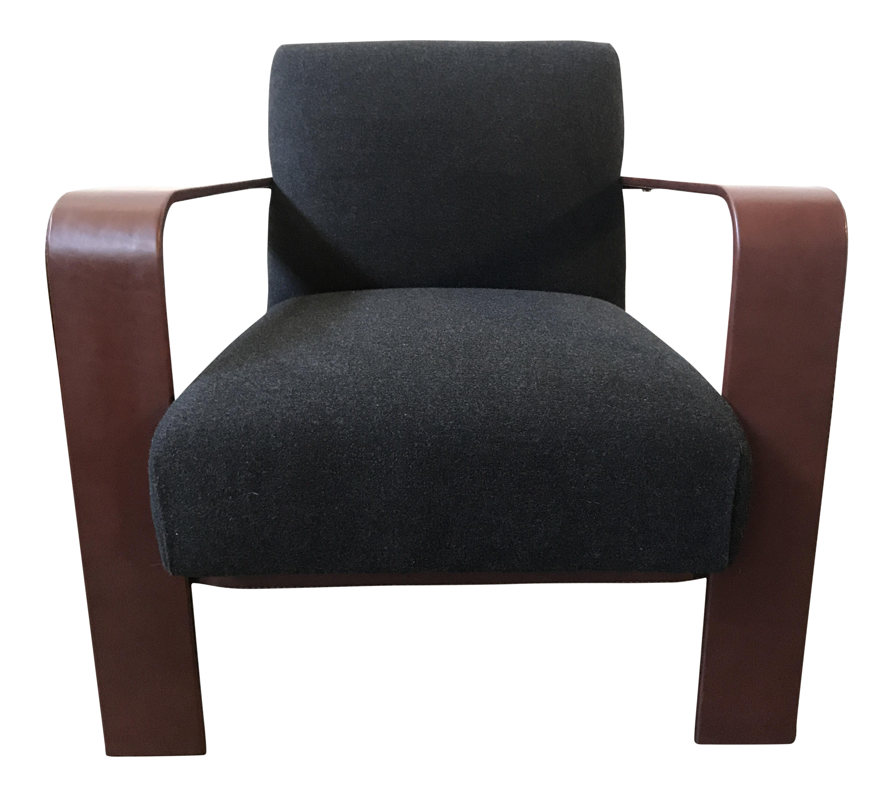 Superieur Ralph Lauren Home City Modern Leather Wrapped Chair   Image 1 Of 11