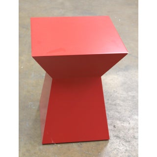 Bolier Red Geometric Side Table Preview