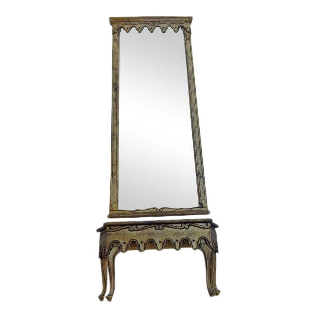 La Barge French Gold Pier Mirror & Console Table - Image 1 of 9