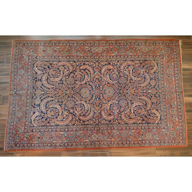 "Vintage Persian Sarouk Rug - 6'11"" X 10'11"" - Image 2 of 11"
