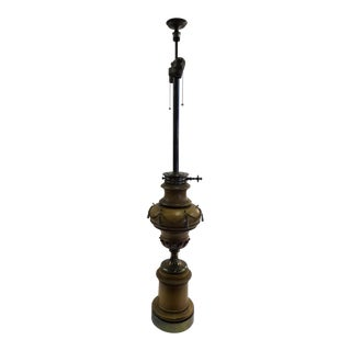 1940s Tall Hollywood Regency Faux Oil Table Lamp For Sale