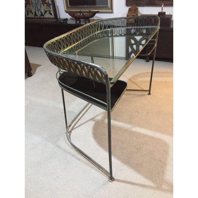 Glass 1950s Italian Maurizio Tempestini for Salterini Ribbon Vanity For Sale - Image 7 of 9
