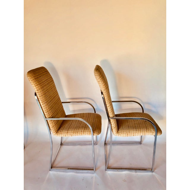 Design Institute of America Mid-Century High Back Dining Chairs - A Pair For Sale In Austin - Image 6 of 12
