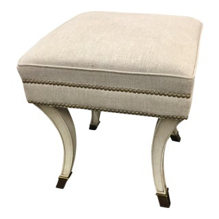 Bella Meade Traditional Upholstered Stool For Sale